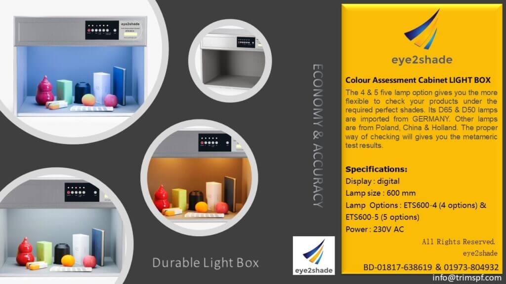 eye2shade Colour Assessment Cabinet Lightbox BD Price